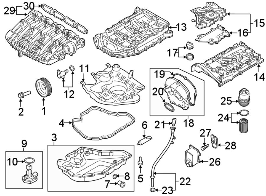 Volkswagen Tiguan Engine Timing Cover  2 0 Liter  Atlas