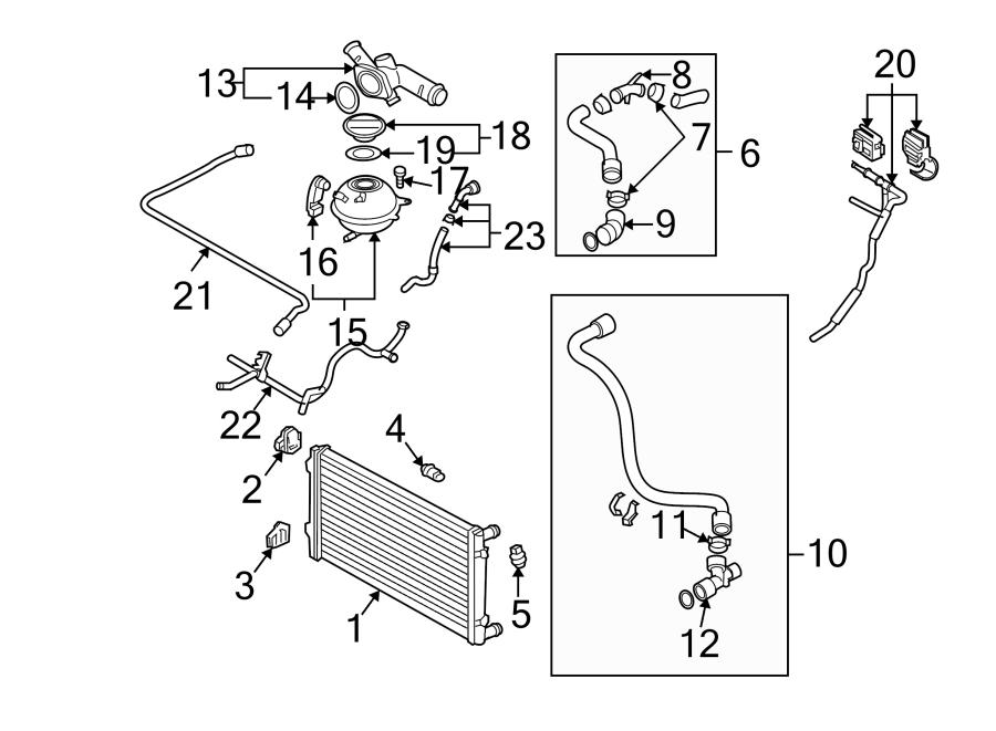 Volkswagen Jetta Engine Coolant Crossover Pipe  Engine