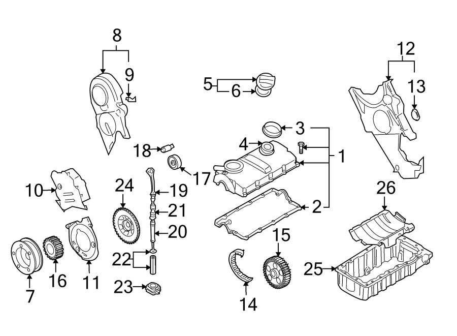 Volkswagen Jetta Engine Timing Belt Idler - 038109244J ...
