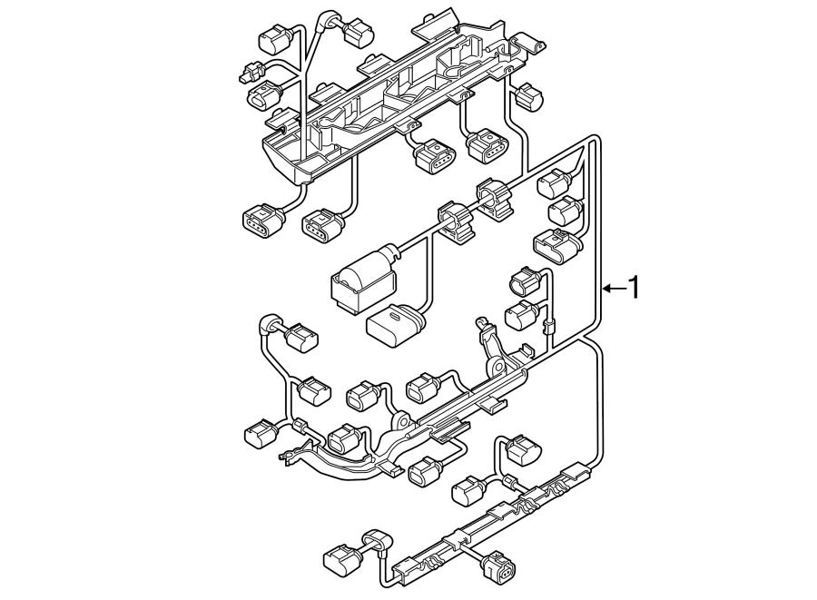 Volkswagen Jetta Hybrid Engine Wiring Harness  1 4 Liter