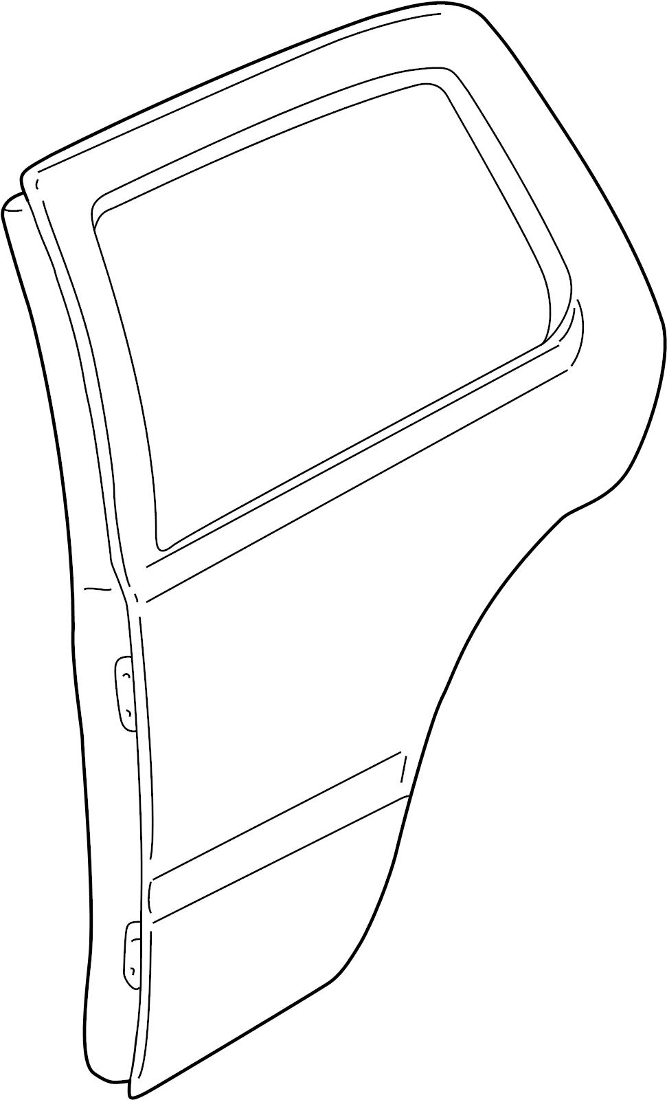 Volkswagen Jetta Gli Molding  Trim  Body  Sedan  Wagon  Side  Channel Cover  Door  Lower  Strip